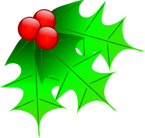 Free Holly Clip Art Image: Holly and Holly Berries