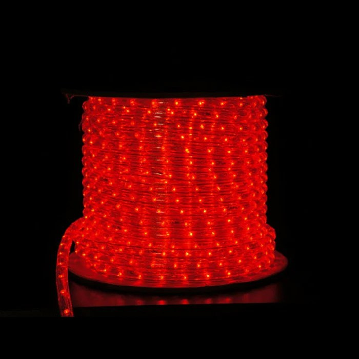12 Inch Red LED Rope Light  150 foot spool