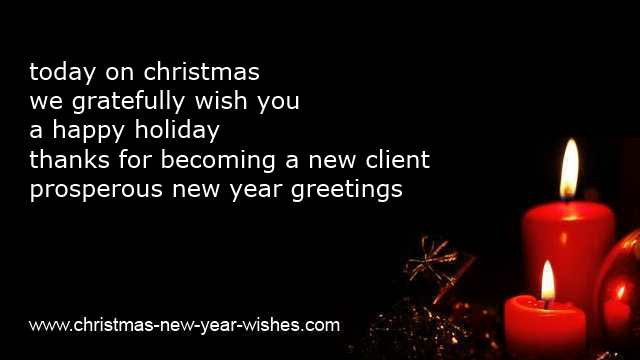 CLIENTS WISHES For Christmas Amp Business Thank You Cards