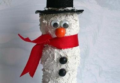 White Christmas Tree Snowman How To Instructions
