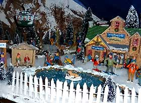 Photo Gallery Of Villages With Model Ski Slope Christmas