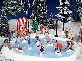 Christmas Village Displays Photo Showing Lemax Ice Skating