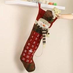 Christmas stocking with advent calendar