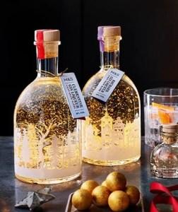 M&S christmas light up gin bottle