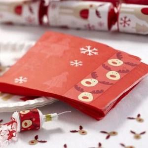 xmas day paper napkins