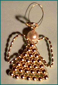 Beaded Angel ornament craft