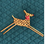 woven reindeer Christmas ornament