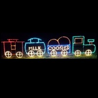 LED Outdoor Christmas Decorations - Lighted Railroad ...