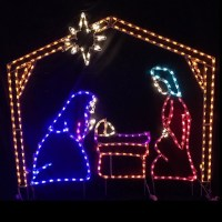LED Outdoor Christmas Decorations - Lighted Religious ...