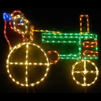 LED Outdoor Christmas Decorations - Lighted Santa Claus ...