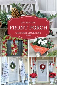 23 Creative Front Porch Christmas Decorating Ideas ...