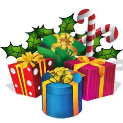 clipart christmas presents ribbons