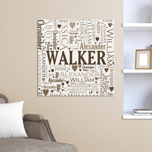 family word art canvas