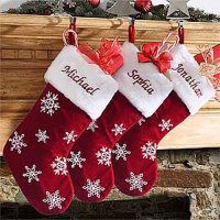Personalized Velvet Stockings   Christmas Gifts