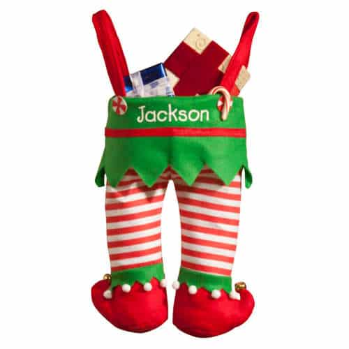 Personalized Elf Pants Stocking Christmas Gifts