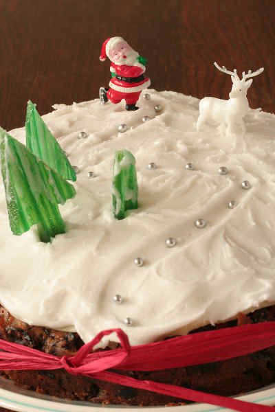 How To Decorate A Christmas Cake With Royal Icing ...