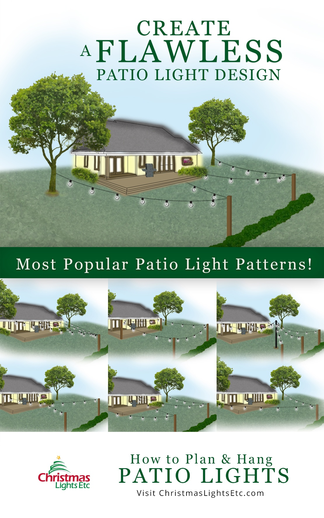 pages how to plan and hang patio lights