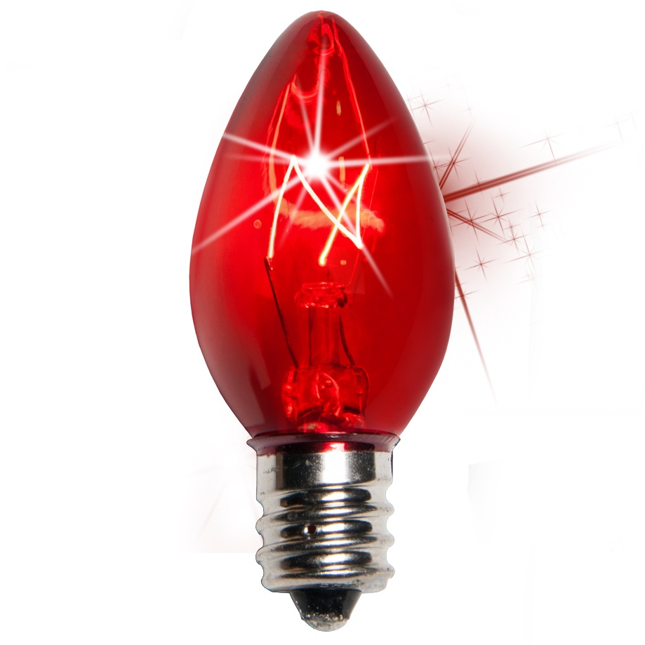 Red Replacement Christmas Light Bulbs