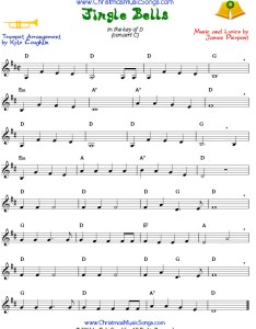 Jingle bells sheet music for trumpet also free rh christmasmusicsongs