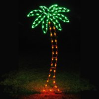 Holiday Lights LED Palm Tree Light Display - 8.8' H