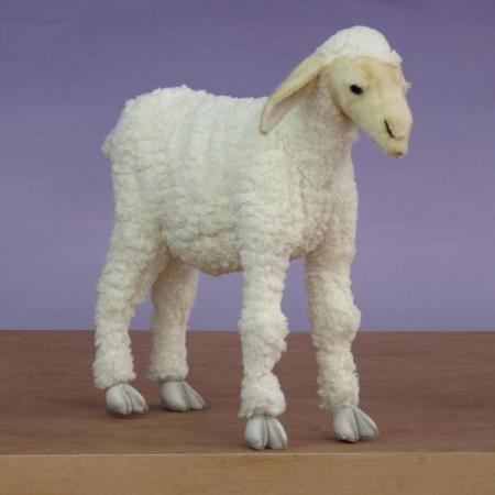 Life Size Plush Baby Lamb 20H