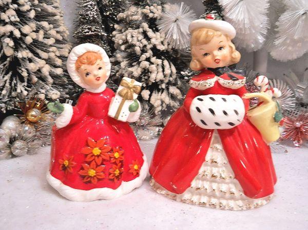 1950s Japan Christmas Santa Angel Shopper Girl Pixie