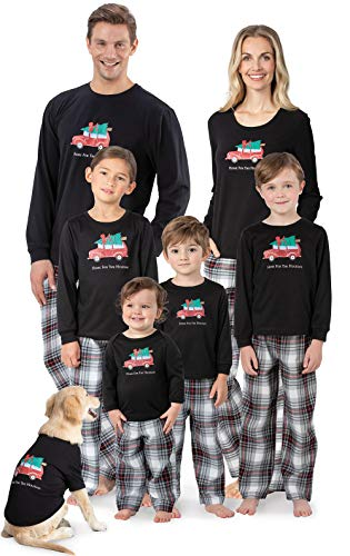 PajamaGram Infant Classic Plaid Pajamas with Long-Sleeved Shirt and Pants