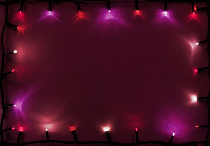 Photo Of Pink And Red Lights Of Garland Free Christmas