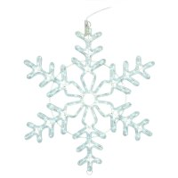 Lighted Outdoor Decorations - Lighted Snowflake ...