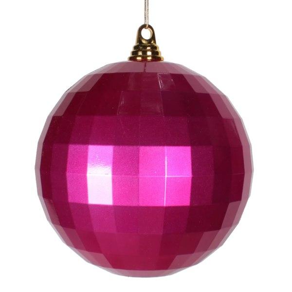 Christmas Ornaments - Mirrored 10 Cerise