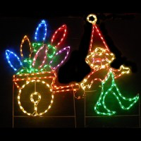 Lighted Outdoor Decorations - Lighted Elves ...