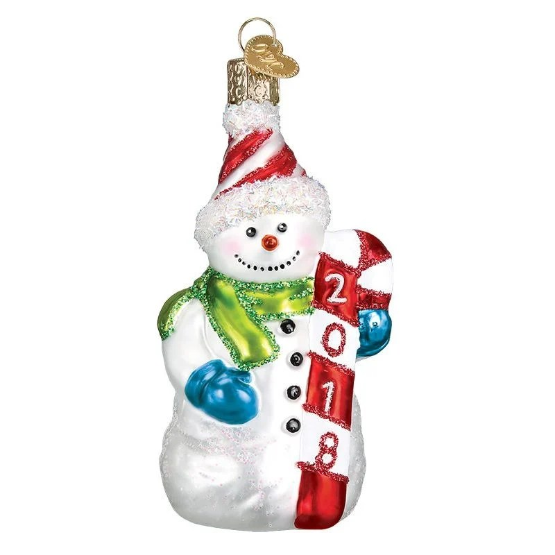 2018 dated snowman ornament