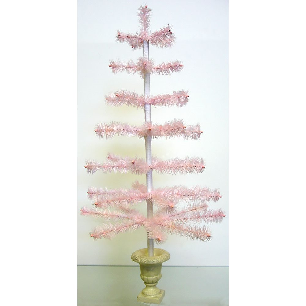 Pink Feather Tree In Urn By Bethany Lowe Traditions