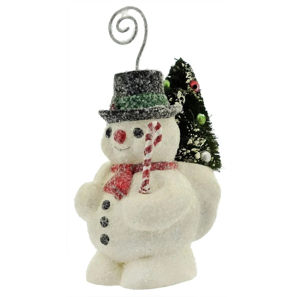Vintage Snowman Place Card Or Ornament By Bethany Lowe