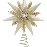 Champagne Gold Glitter Star Christmas Tree Topper With Jewel 33cm Christmas Decorations Buy Online From The Christmas Warehouse