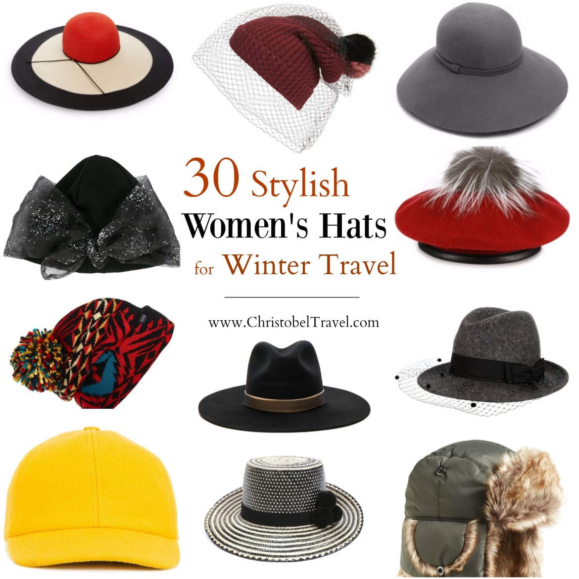 30 Stylish Women s Hats for Winter Travel - Christobel Travel 0526cfff23b8