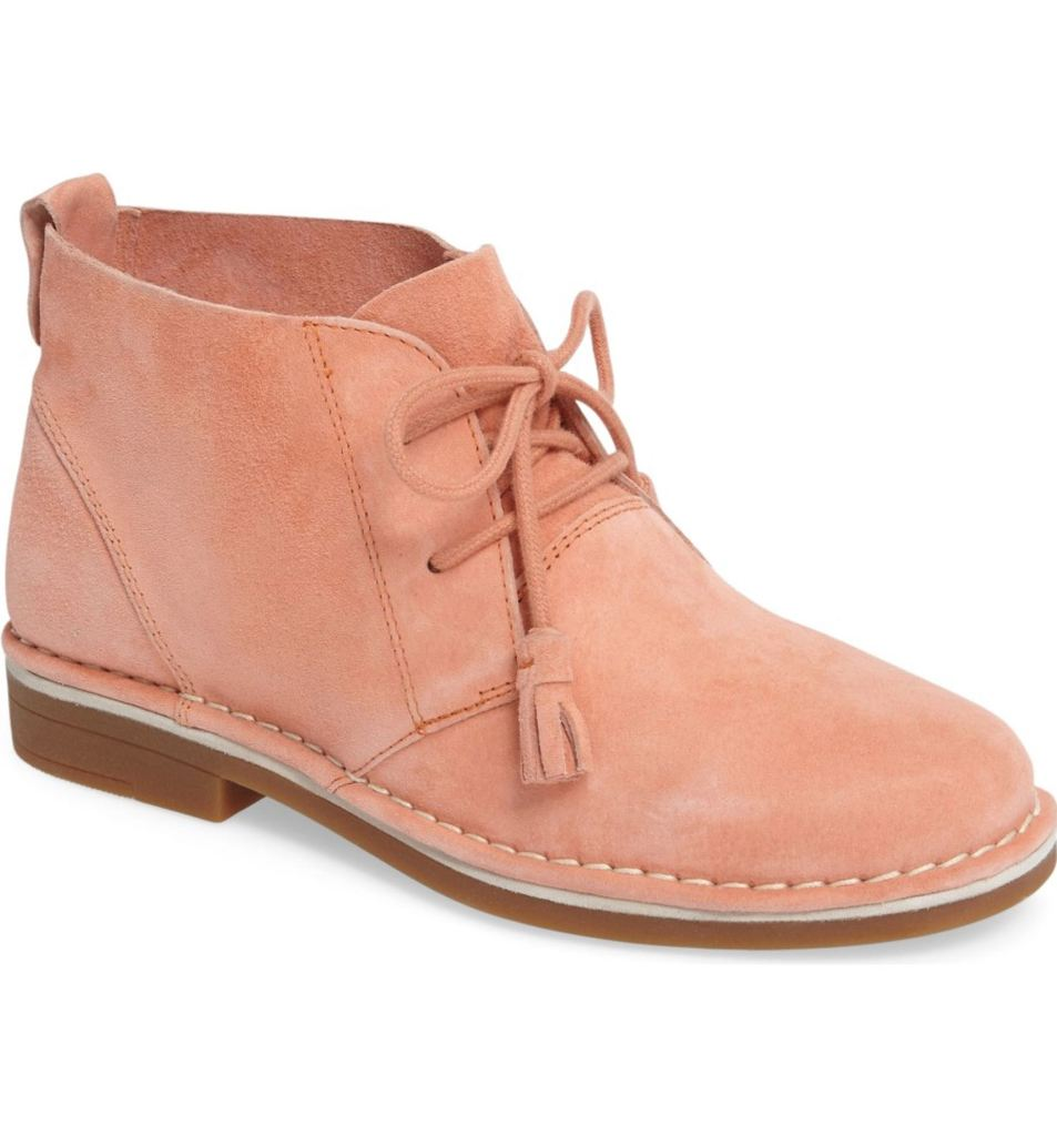 'Cyra Catelyn' Chukka Boot - Peach Suede by Hush Puppies® | $99