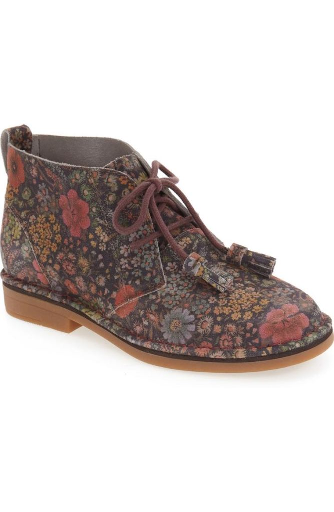 'Cyra Catelyn' Chukka Boot - Black Floral Suede by Hush Puppies® | $99