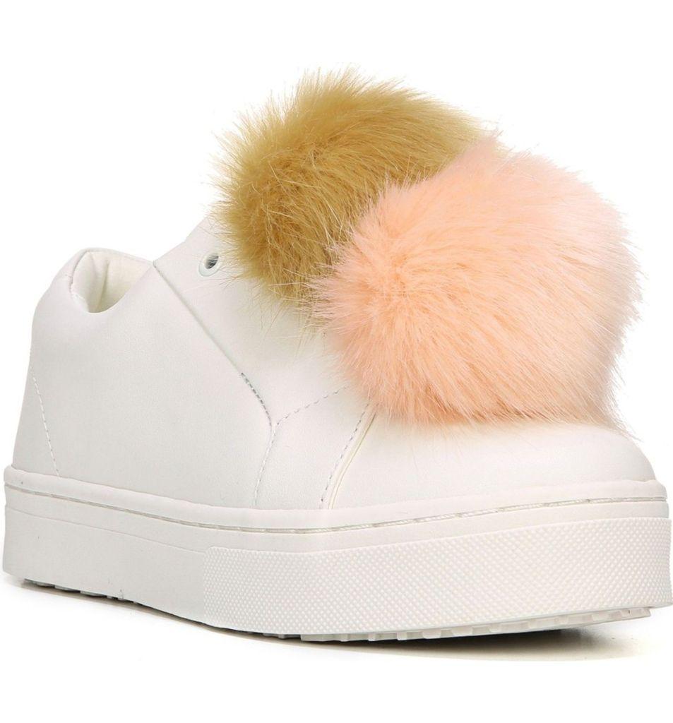 'Leya' Faux Fur Laceless Sneaker by Sam Edelman | $100