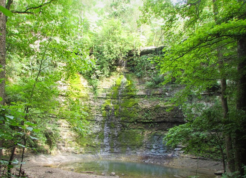 Twin Falls at Camp Orr Road - Road Trip - 26 Places to Visit in Arkansas - Christobel Travel