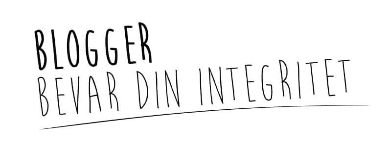 Blogger X Bevar Din Integritet