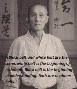 white belt, blak belt