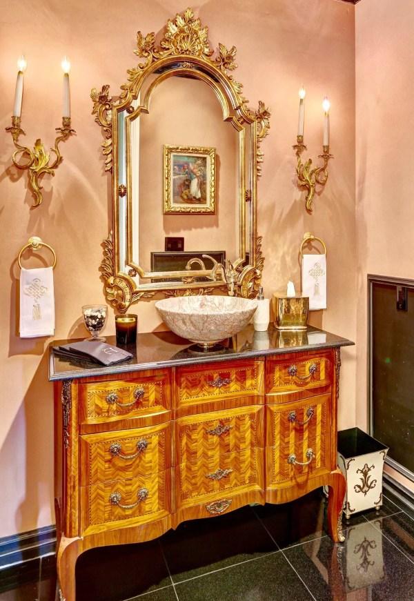 Beautiful And Elegant Powder Room