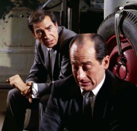 """Reluctant companions Rollin Hand (Martin Landau) and Andreas Solowieczek (David Sheiner) in """"The Confession"""""""