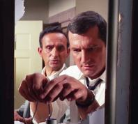 """Briggs (Steven Hill) and Dr. Green (Allen Joseph) drug the water supply in """"The Ransom"""""""