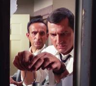 "Briggs (Steven Hill) and Dr. Green (Allen Joseph) drug the water supply in ""The Ransom"""