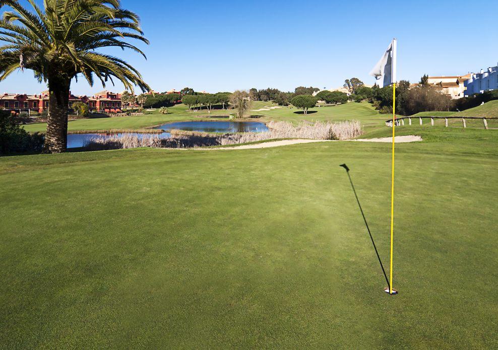 Golfplatz in Spanien/ Islantilla