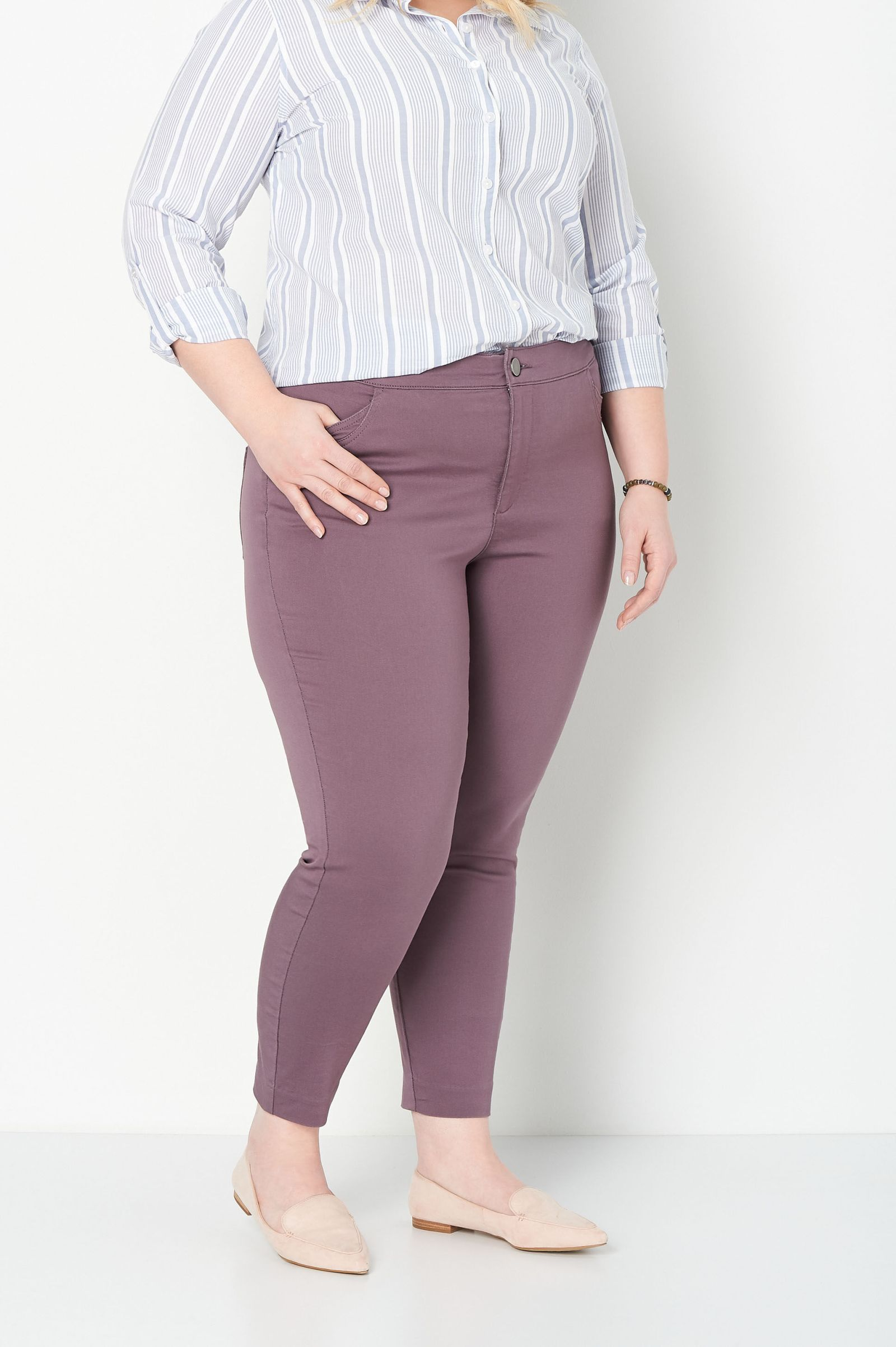 Super Stretch Plus Size Ankle Pant 2