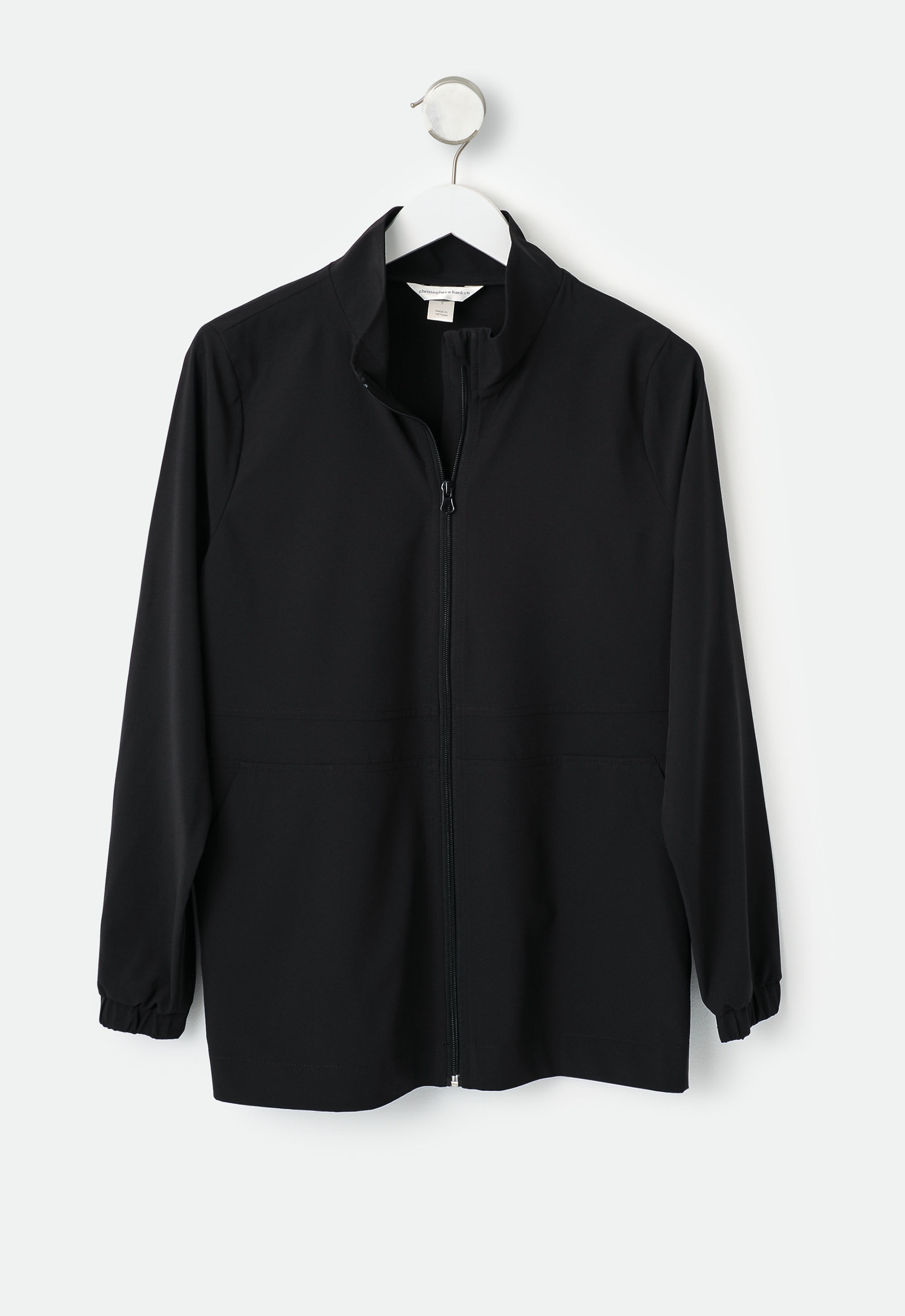 Relaxed Restyled Solid Plus Size Woven Jacket 10
