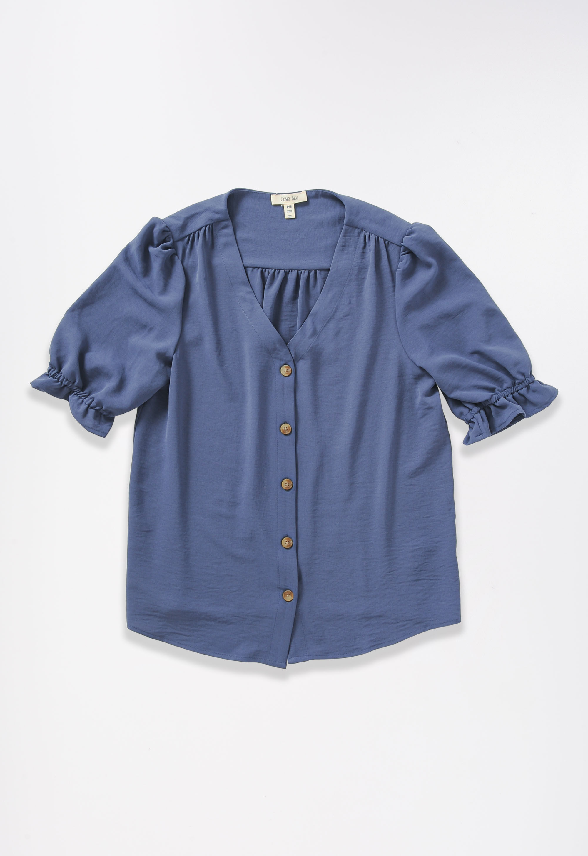 Solid Ruffle Sleeve Plus Size Blouse 3